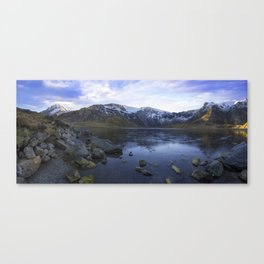 Frozen Lake Idwal Canvas Print