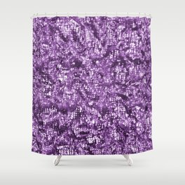 Violet Glitter Abstract PrintViolet Glitter Abstract Print Shower Curtain