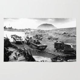 Iwo Jima Beach Painting Rug