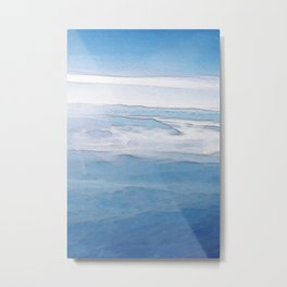 Hovering over the Alps Metal Print