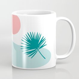 Tropical Beach, Minimalist Abstract Illustration Coffee Mug