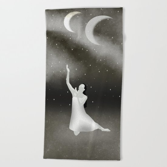 Worshipping the Moon Beach Towel