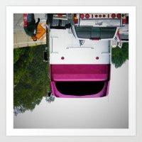 Upside Down Truck Smiley Art Print