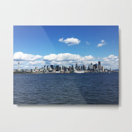 Seattle Skyline - #1 Metal Print