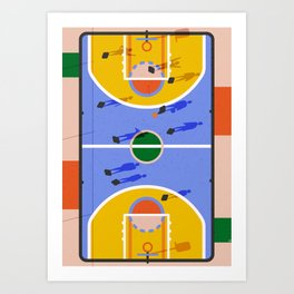 Hoops Art Print