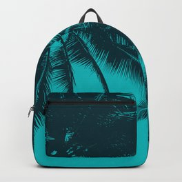 Blue palms in summer Backpack