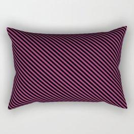 Festival Fuchsia and Black Stripe Rectangular Pillow