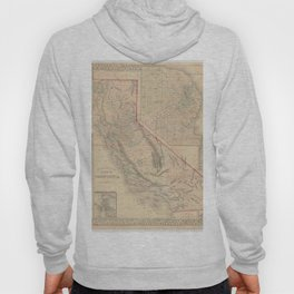Vintage Map Of California Hoody