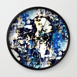 Urban decay - textured abstract I Wall Clock