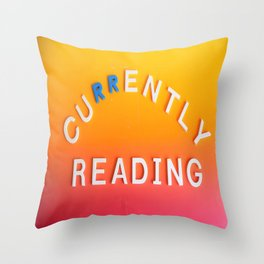 Currently Reading Throw Pillow