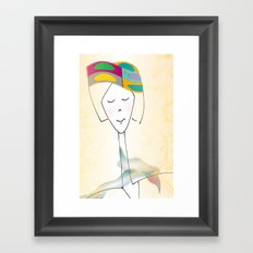 She was known for her interesting hats. Framed Art Print