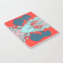 HYDRANGEA red Notebook