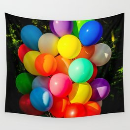 Colorful Toy Balloons Wall Tapestry