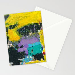 Whisper Yellow Abstract Stationery Cards