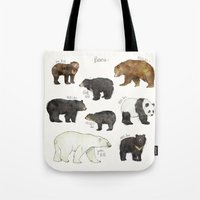 bears Tote Bags featuring Bears by Amy Hamilton