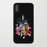 power rangers iPhone & iPod Cases featuring power glove rangers by Louis Roskosch