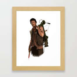 COLLECTION WALKING DEAD DARYL Framed Art Print