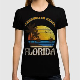 Clearwater Beach Florida Summer Vacation Gulf of Mexico T-Sh T-shirt
