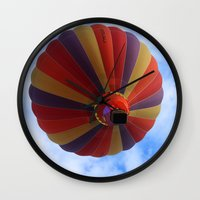 balloon Wall Clocks featuring Balloon  by Christine baessler