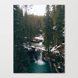 Johnston Canyon Falls Canvas Print