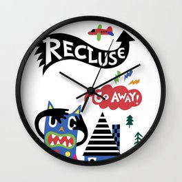 Professional Recluse Wall Clock