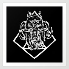 Goat as wolf Art Print
