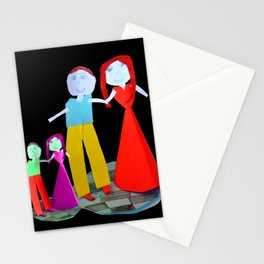 Dance me to the end of love | Kids Painting by Elisavet Stationery Cards