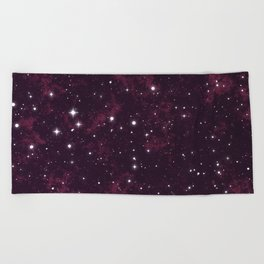 Burgundy Space Beach Towel