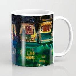 Boat Flotilla at Night at Octopus Island Coffee Mug