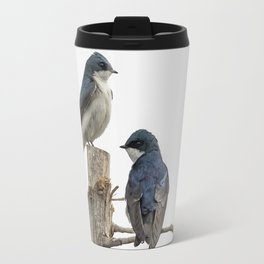 Tree Swallow Times Two Travel Mug