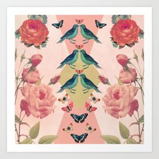 Love Birds (pink edition) Art Print