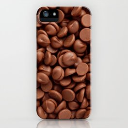 Milk chocolate chips iPhone Case
