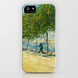Vincent Van Gogh - Along the Seine iPhone Case