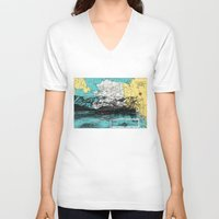 alaska V-neck T-shirts featuring Alaska by Ursula Rodgers