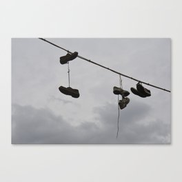 Shoes In The Air Canvas Print