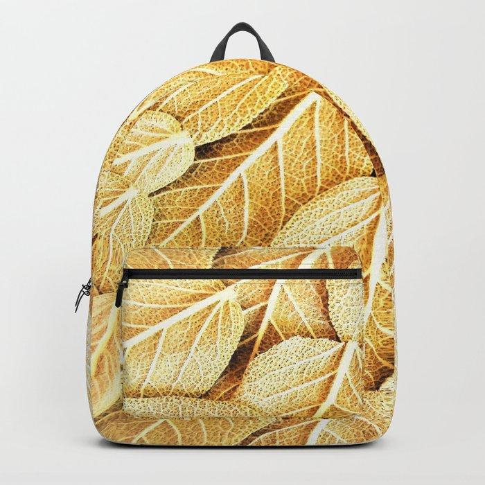 golden leaves pattern Backpack