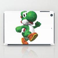yoshi iPad Cases featuring Yoshi Geometric by Sharna Myers