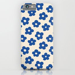 Indigo Flower Pattern #indigo #blue #navy #pattern #floral iPhone Case