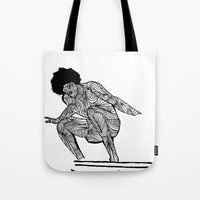 70s Tote Bags featuring 70s surfer by terezamc.