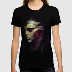 Mass Effect: Thane Krios Black X-LARGE Womens Fitted Tee