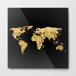 The World is Golden Metal Print