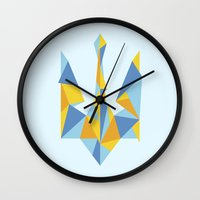 ukraine Wall Clocks featuring Ukraine Geometry by Sitchko Igor