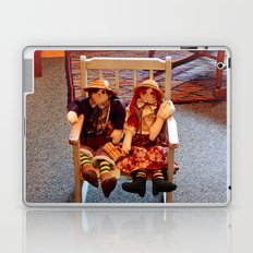 Vintage Dolls in a Chair Laptop & iPad Skin