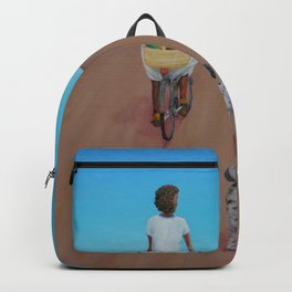 The Big Girl's Day Out Adventure portrait painting by Tom Franz Backpack