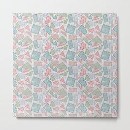 Geometric Stylish Pattern - Cut out Shapes Metal Print