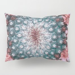 Cactus with Pink Flowers Pillow Sham