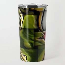 Female Nude Abstract In Woven Molten Metal Travel Mug