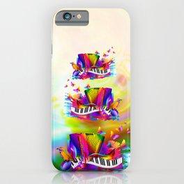 Colorful music instruments , accordion design iPhone Case