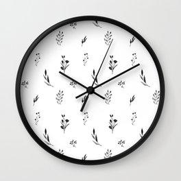 Little botanics black&white Wall Clock