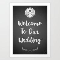 Wedding Welcome Art Print